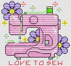 Cross-stitch pattern free download as pdf file with sewing machine