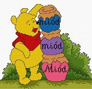 Cross-stitch pattern FREE download as PDF file with Winnie the Pooh