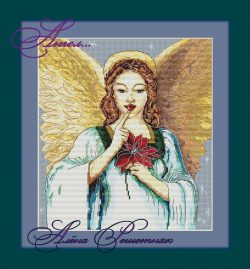 Cross-stitch pattern FREE download as PDF file with beautiful angel